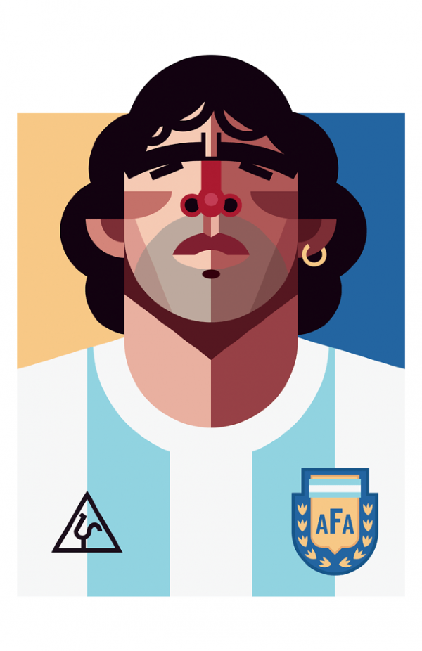 Playmaker - Illustrations de footballeurs par Daniel Nyari