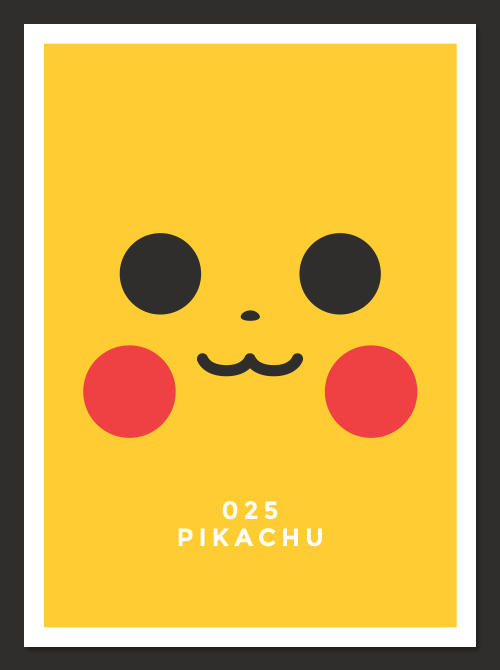 Photo of Les affiches minimalistes de Pokemon par Daniel Stanley