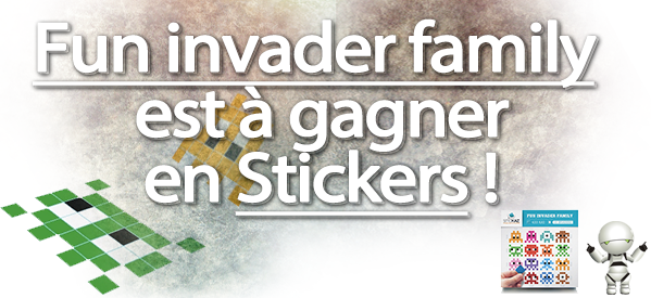 concours gagner pixel art fun invader