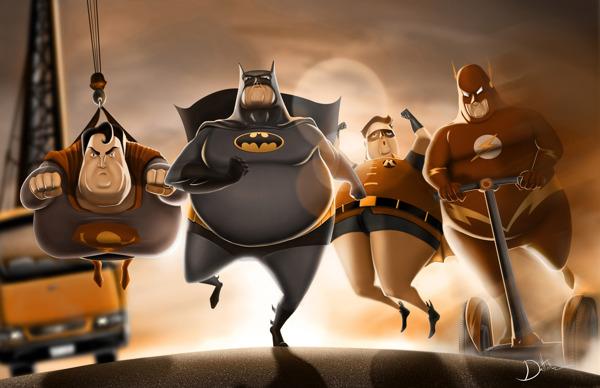 Photo of Fat Heroes – Et si les super-héros étaient gros ? par Carlos Dattoli