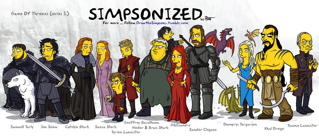 Photo of Les personnages de Game of Thrones en Simpsons par Adrien Noterdaem