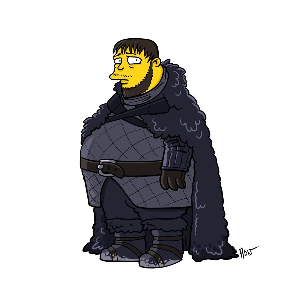 Les personnages de game of thrones en simpsons par adrien - Tout les personnage des simpson ...