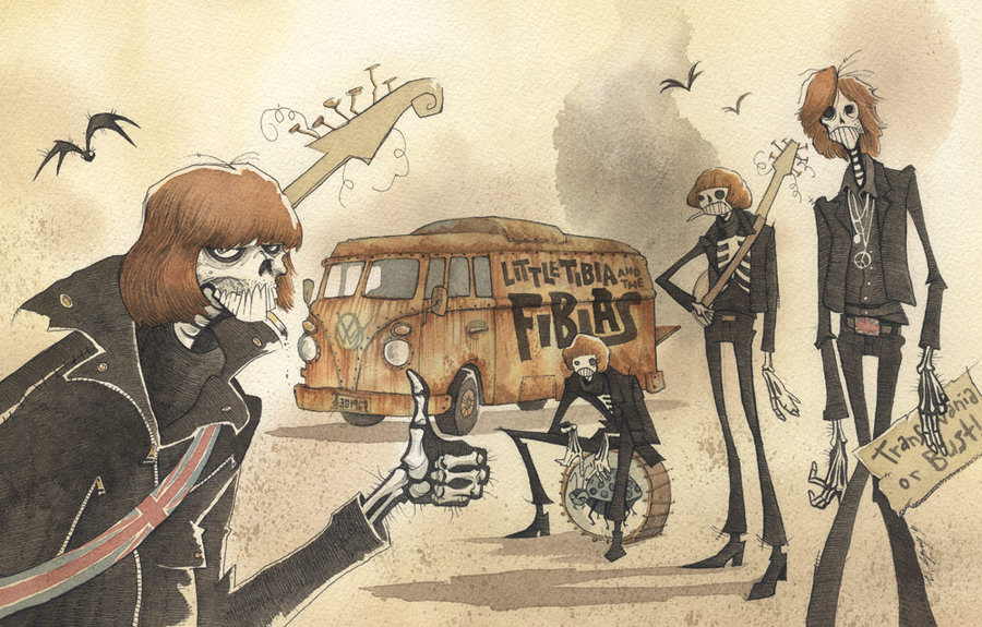 Photo of Les illustrations sous forme de peinture de l'artiste Gris Grimly