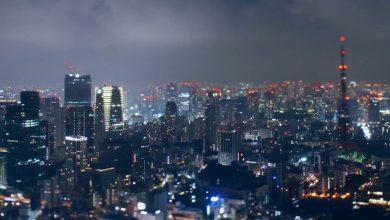 Photo of La ville de Tokyo en time lapse et tilt shift vue depuis Roppongi Hills