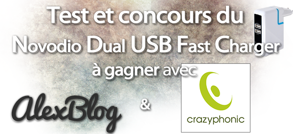 concours Novodio Dual USB Fast Charger