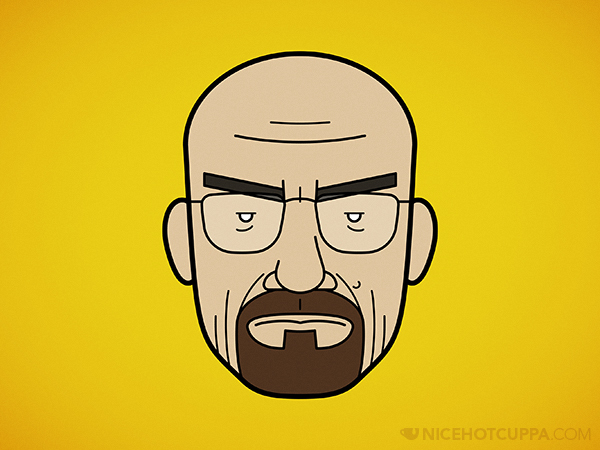 Faces of Breaking Bad: Walter White (with Beard)