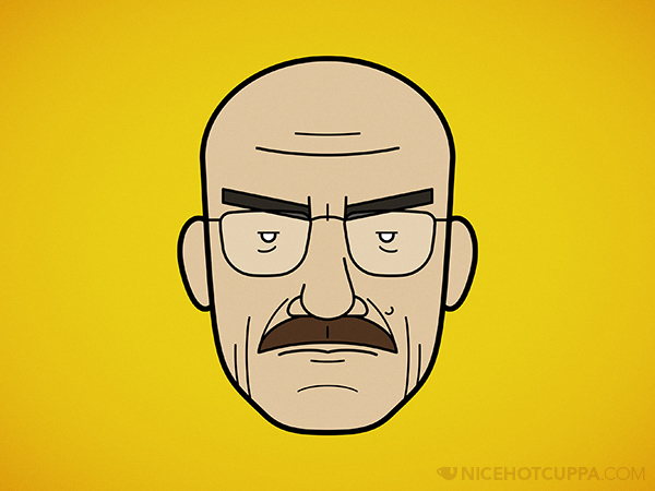 Faces of Breaking Bad: Walter White (with Moustache)