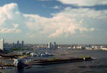 Photo of La ville de Yokohama en time lapse et en miniature
