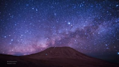 Photo of Nuit étoilée sur le Kilimandjaro – time lapse