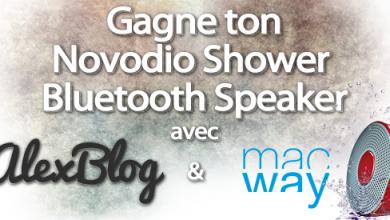 Photo of Concours : Découverte de l'enceinte Novodio Shower Bluetooth Speaker