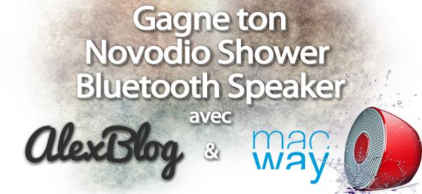 concours Novodio Shower Bluetooth Speaker