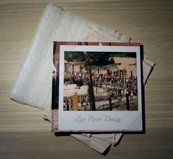 Le livre photo avec ses protections de livraison