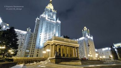 Photo of La ville nocturne de de Moscou en time lapse / hyperlapse