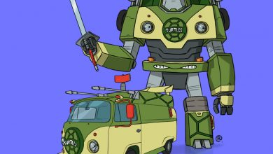 Photo of Darren Rawlings et ses illustrations originales de Transformers