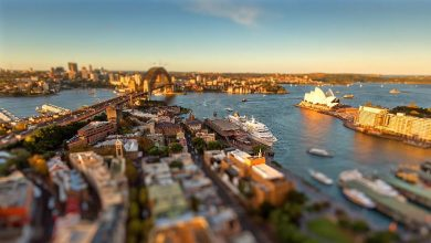 Photo of La ville de Sydney en time lapse miniature