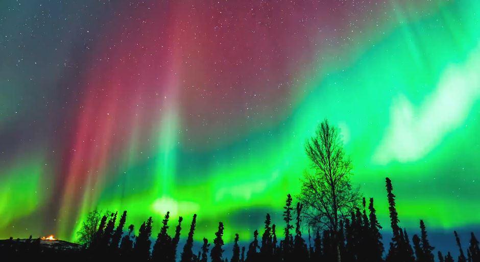 les aurores bor ales d 39 alaska en vid o. Black Bedroom Furniture Sets. Home Design Ideas