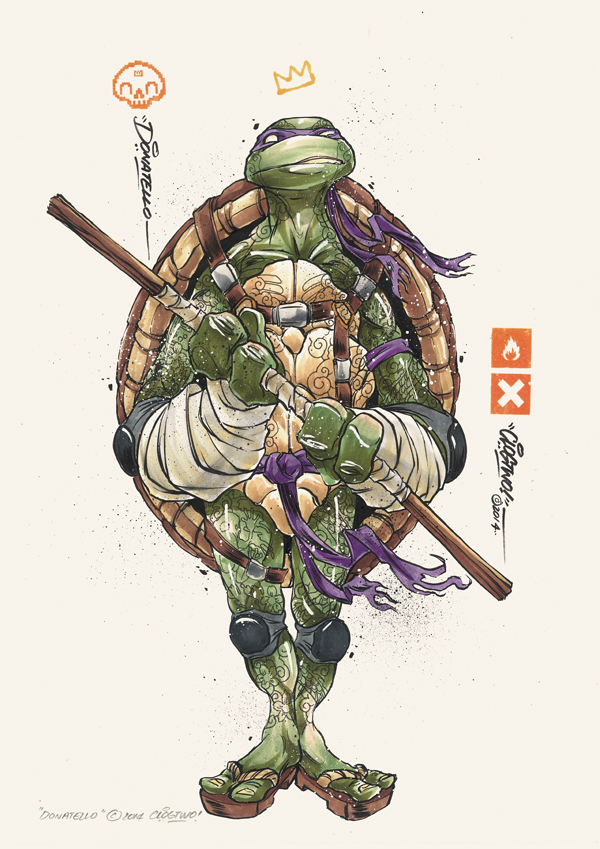 Illustrations des tortues ninja par clogtwo - Tortues ninja michelangelo ...