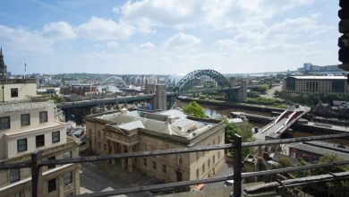 Photo of La ville de Newcastle upon Tyne en time lapse