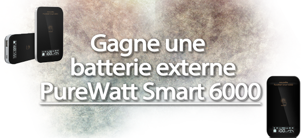 Gagne ton Novodio PureWatt Smart 6000 - Batterie externe 6000 mAh