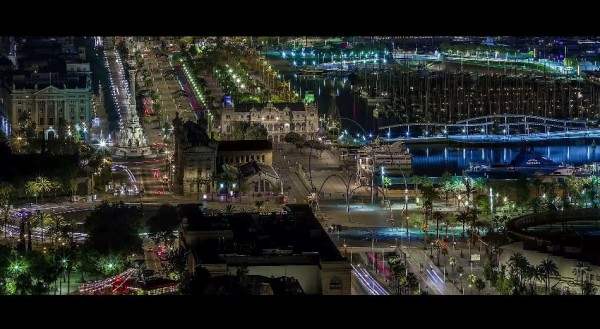 time-lapse-barcelone-nuit