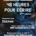 Editions Edilivre: participez au concours 48 heures pour écrire