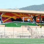 fresque Stade municipal, avec centre de loisirs