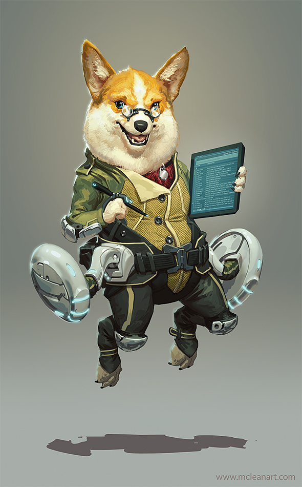 McLean Kendree - Le Space Corgi