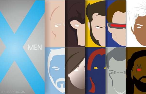 affiches-minimalistes-marvel-alejandro-rojas-x-men (1)
