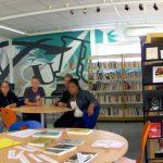 fresque lycée centre de documentation et d'information (CDI)