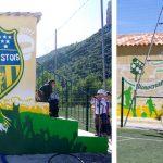 fresque Stade municipal, avec centre de loisirs jeunesse