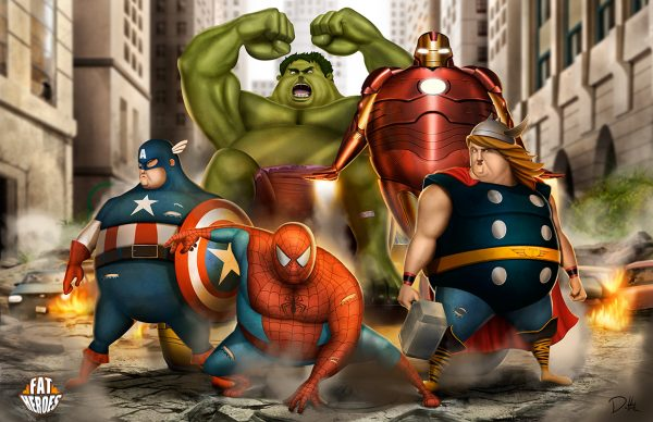 Spiderman-Avengers-fat-heroes-funny-carlos-dattoli (1)