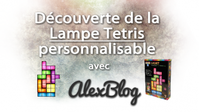 Photo of Découverte de la Lampe Tetris personnalisable