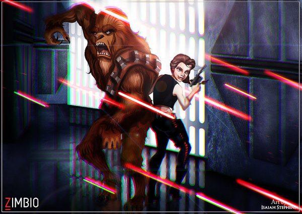 Isaiah Stephens Belle Beast Han Solo Chewbacca
