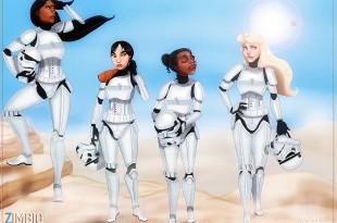 Isaiah Stephens Pocahontas Mulan Tiana Aurora Stormtroopers