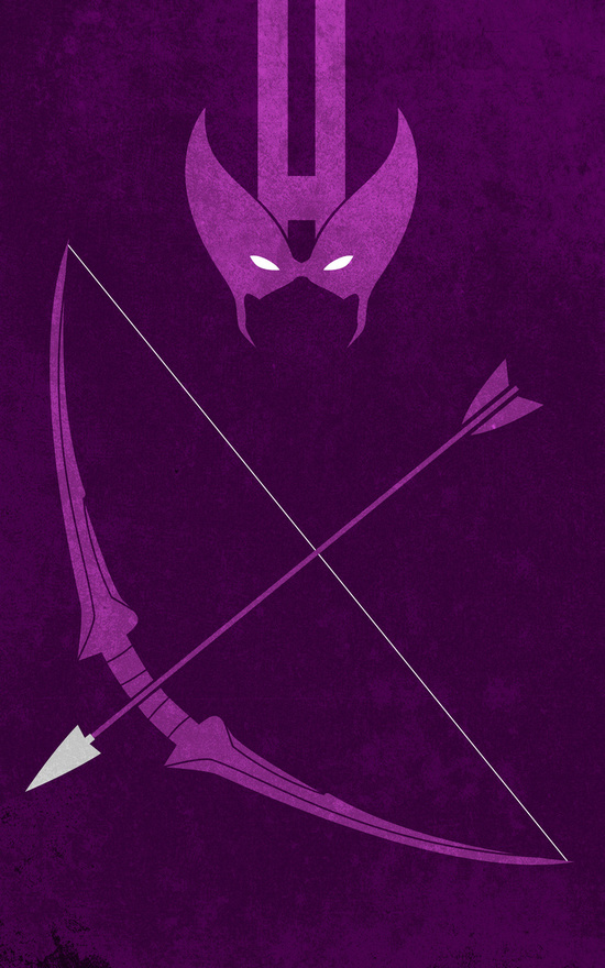 Affiches Minimalistes Super Hero Thelincdesign (11)