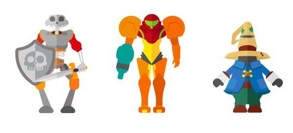 Flat Illustrations Super Heros Mechants Miguel Olivera (1)