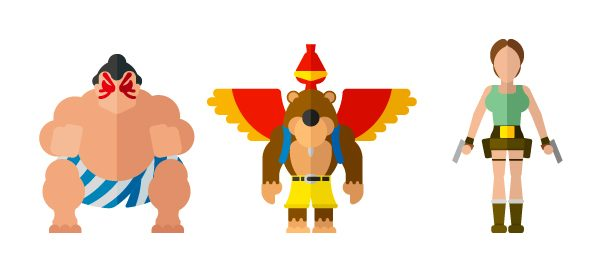 Flat Illustrations Super Heros Mechants Miguel Olivera (10)
