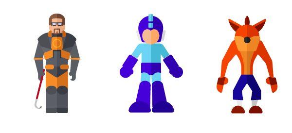 Flat Illustrations Super Heros Mechants Miguel Olivera (6)