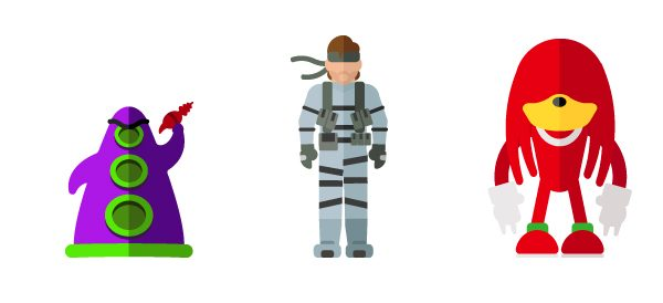 Flat Illustrations Super Heros Mechants Miguel Olivera (8)