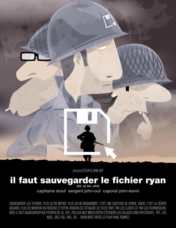 Parodies Affiches Films Version Graphiste Stouf Et Jean Ouf (1)