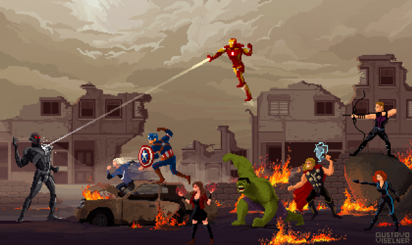 Gustavo Viselner Scenes Pop Culture Pixel Art (9)
