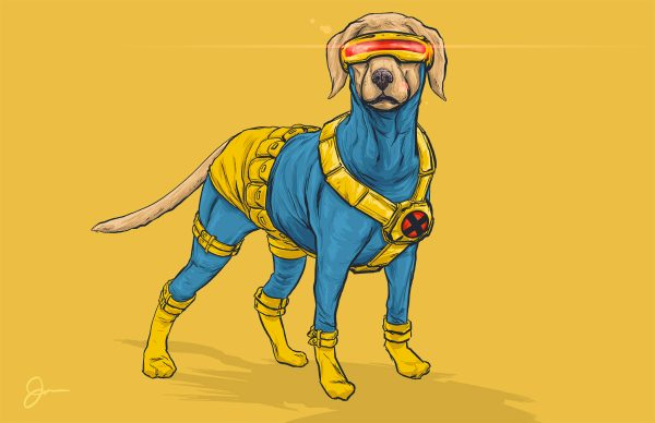 Illustrations Super Heros Marvel Reinvente Chiens Josh Lynch (10)