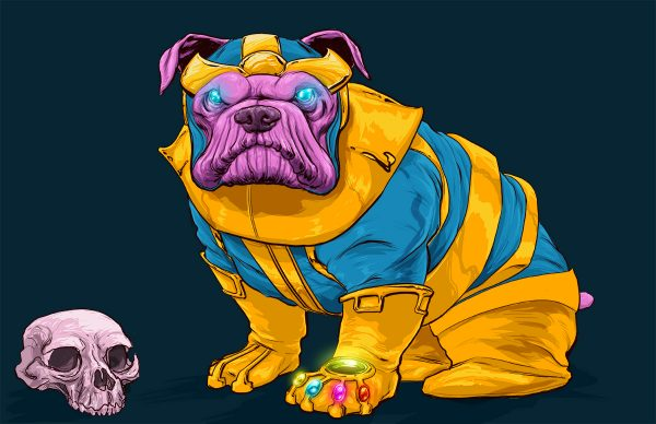 Illustrations Super Heros Marvel Reinvente Chiens Josh Lynch (11)