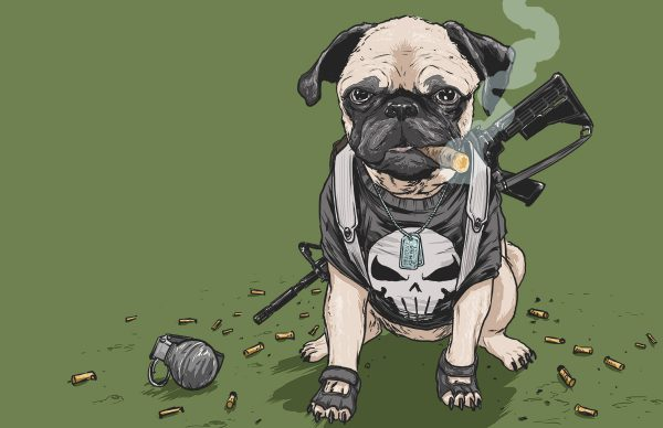 Illustrations Super Heros Marvel Reinvente Chiens Josh Lynch (13)