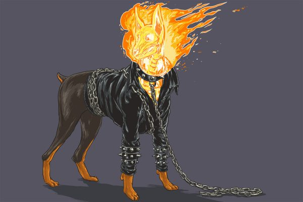 Illustrations Super Heros Marvel Reinvente Chiens Josh Lynch (14)