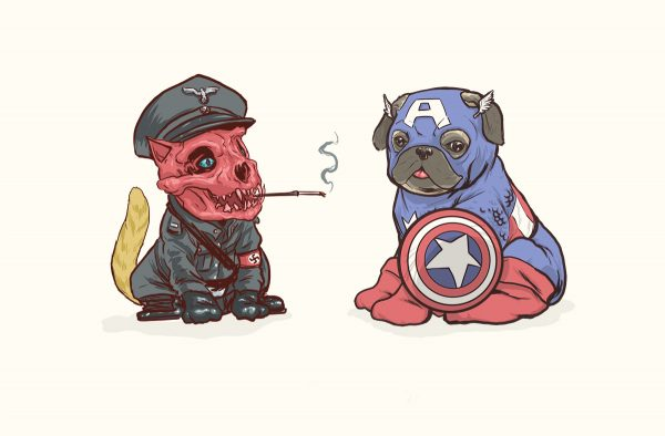 Illustrations Super Heros Marvel Reinvente Chiens Josh Lynch (15)
