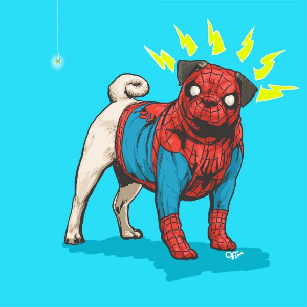 Illustrations Super Heros Marvel Reinvente Chiens Josh Lynch (5)