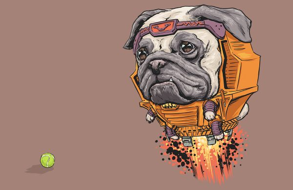 Illustrations Super Heros Marvel Reinvente Chiens Josh Lynch (9)