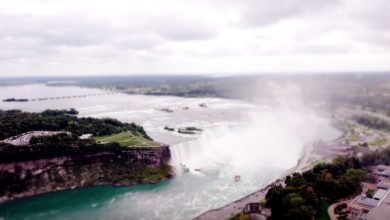 Photo of Les Chutes du Niagara dans un time lapse miniature