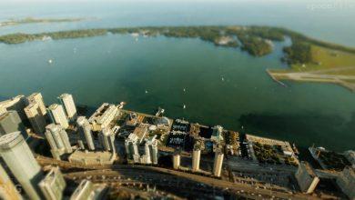 Photo of La ville de Toronto dans un time lapse miniature